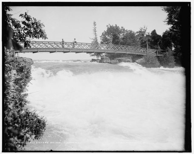 Three Sisters' Bridge [i.e. Three Sister Island], Niagara Riv[er]