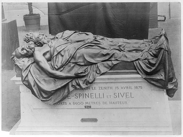 [Tomb of Croce-Spinelli and Sivel (French scientists), killed in the crash of the balloon Zenith, 15 Apr. 1875]