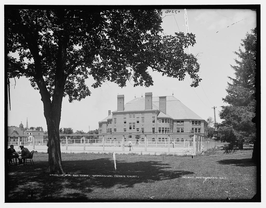 U. of M., Ann Arbor, gymnasium, tennis court