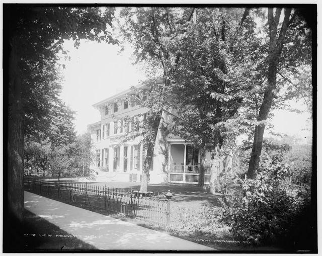U. of M[ichigan], president's house