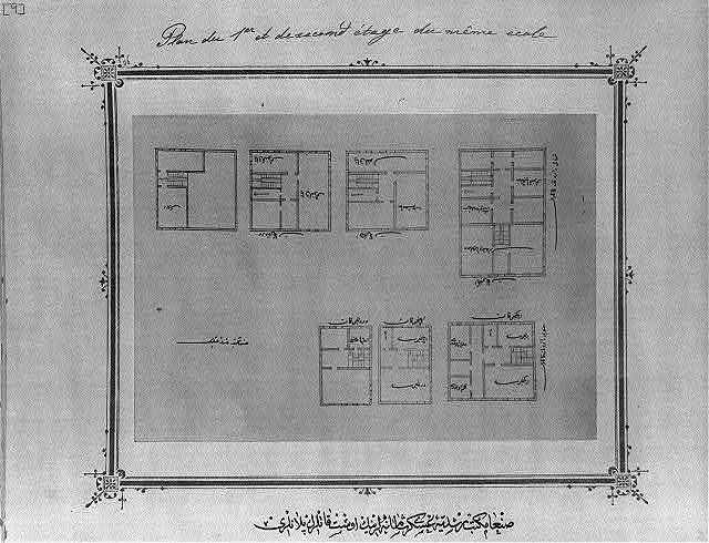 [Upper floor plan, imperial military middle school, Ṣanʻāʾ]