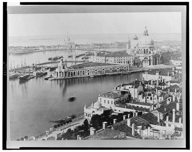 Venice, Italy--Panorama from the campanile of S. Marco towards S. Maria della Salute