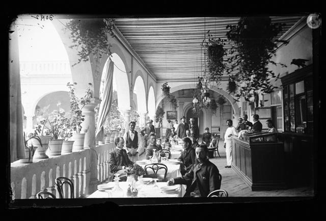 [Veranda restaurant, corridors of the Hotel Diligencias, Puebla, Mexico]