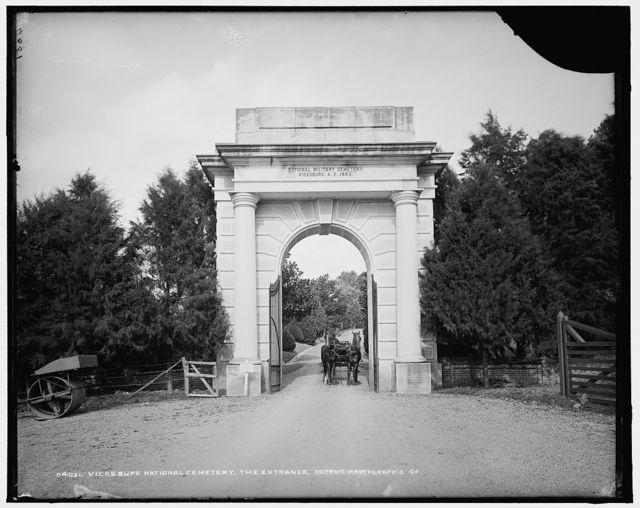 Vicksburg National Cemetery, the entrance