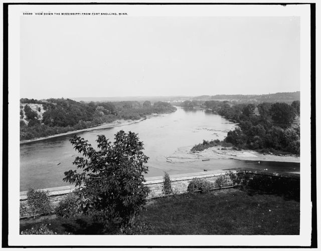 View down the Mississippi from Fort Snelling, Minn.