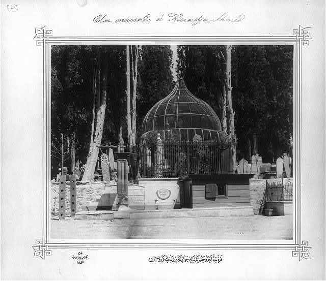 [View of a mausoleum in the neighborhood of His Holiness Karacaahmet] / Lieutenant Colonel of the General Staff, Ali Rıza Bey.