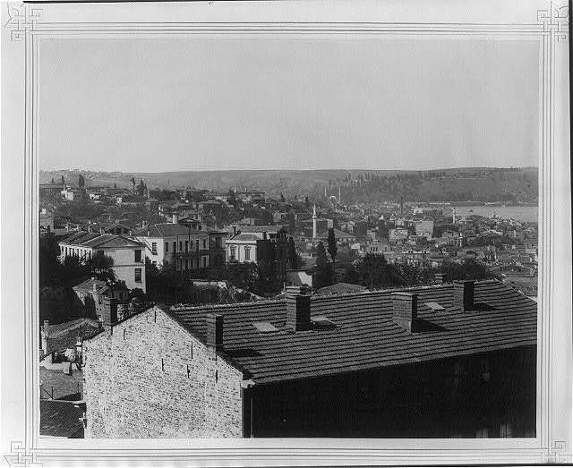 [View of Eyüp seen from the Sultan Selim] / Lieutenant Colonel of the General Staff, Ali Rıza Bey.