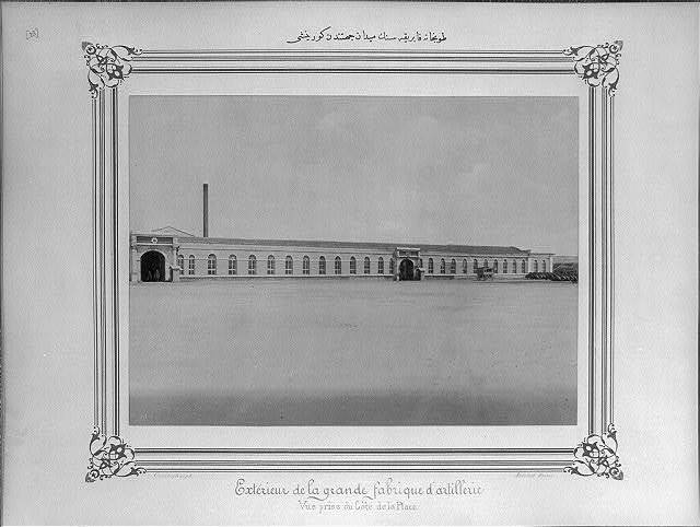 [View of the Imperial Tophane Factory seen from the Square] / Constantinople, Abdullah Frères.
