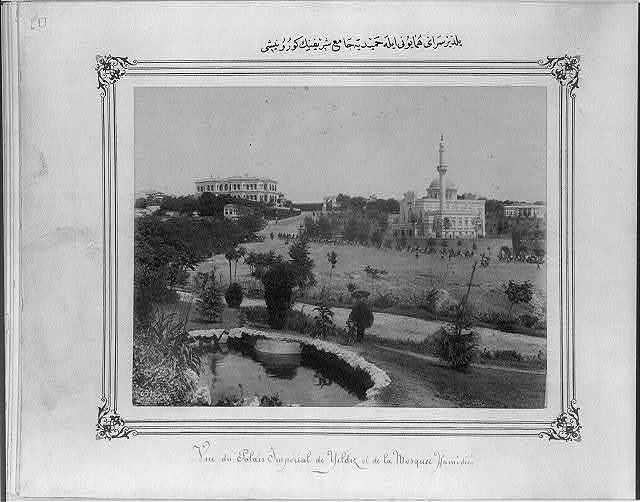 [View of the Imperial Yıldız Sarayı (palace) and the Hamidiye Camii (mosque)]
