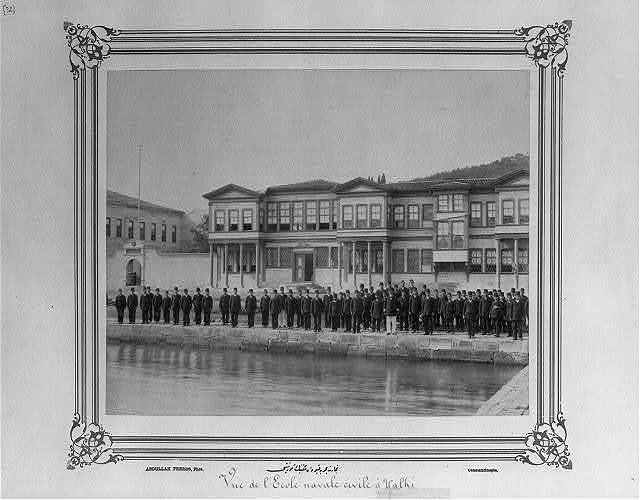 [View of the Merchant Marine Academy] / Abdullah Frères, Phot., Constantinople.