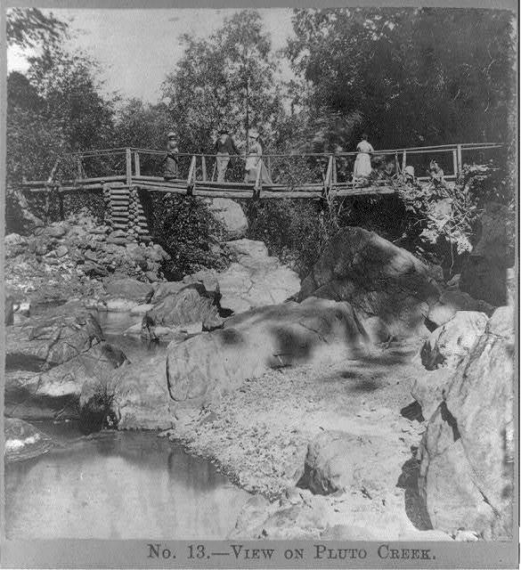 View on Pluto Creek, Geyser Springs, Sonoma County, Cal. / Andrew Price, photographer.