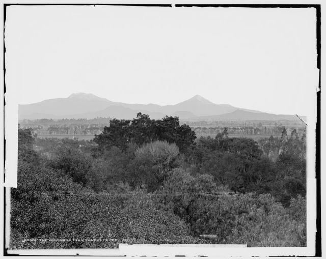 Volcanos from Chapultepec, Mexico