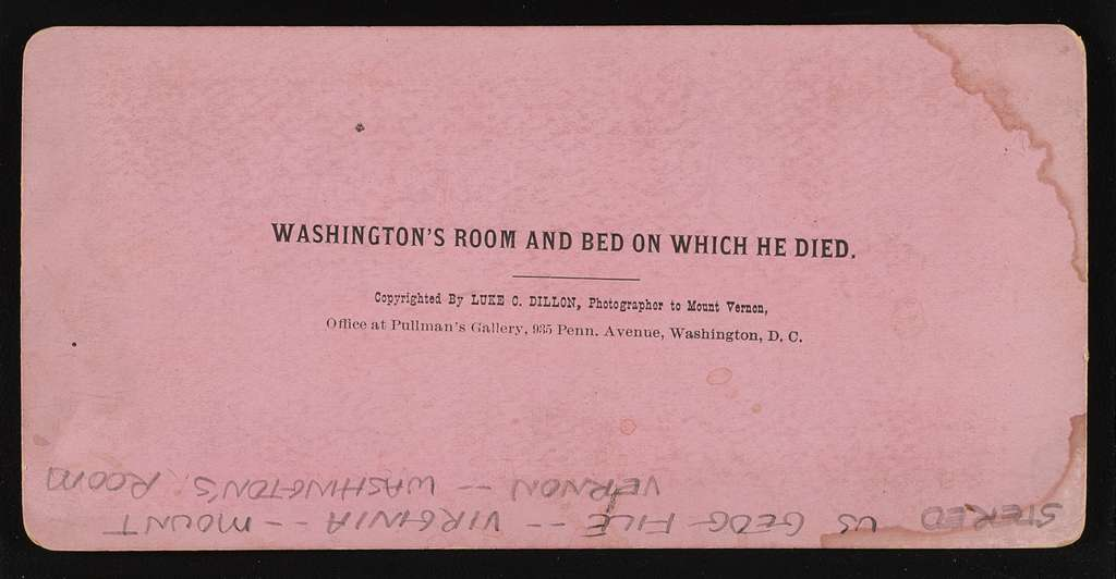 Washington's room and bed on which he died