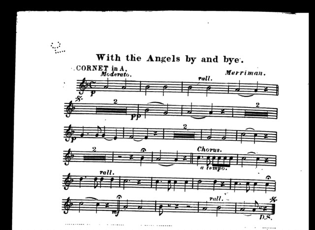 With the angels by and bye