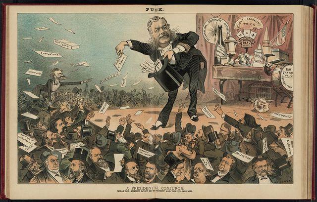 A presidential conjuror / J. Keppler.