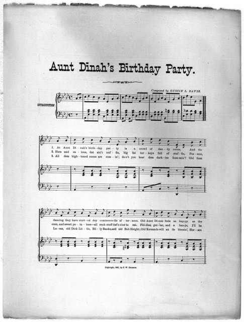 Aunt Dinah's birthday party