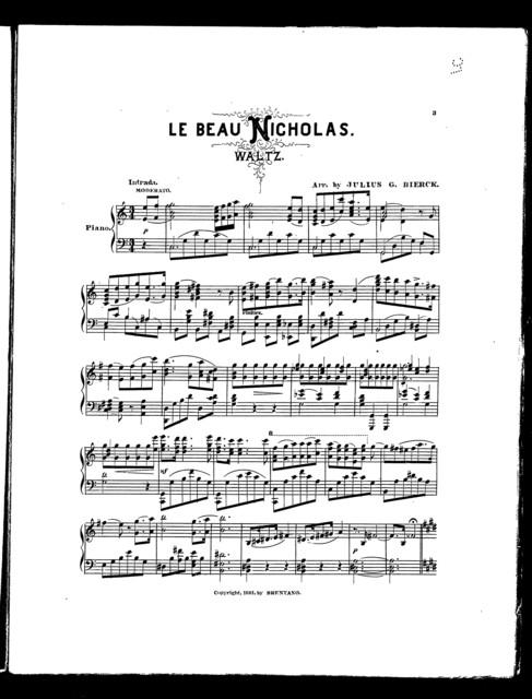 Beau Nicholas waltz, Le