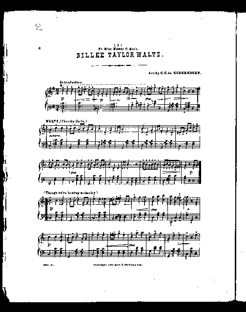 Billee Taylor; Fantasie facile [and] Waltz