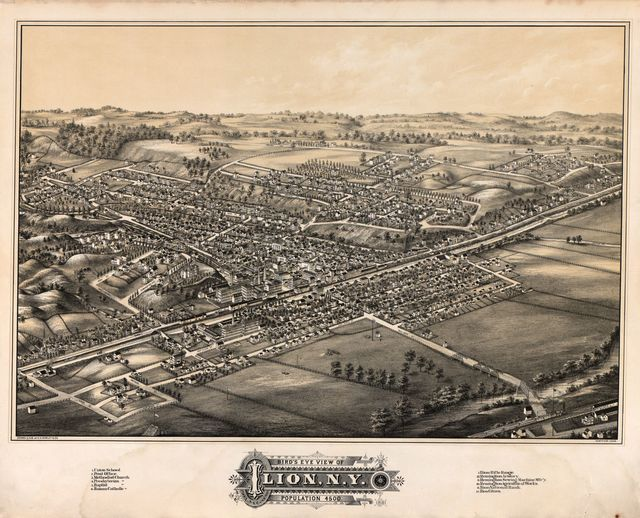 Bird's eye view of Ilion, N.Y. : population 4500 /