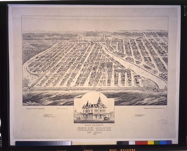 Bird's eye view of Ocean Grove New Jersey 1881 / drawn and published by T.M. Fowler.