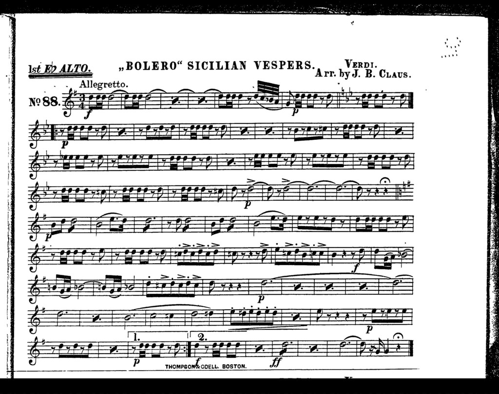 """ Bolero"" Sicilian vespers"