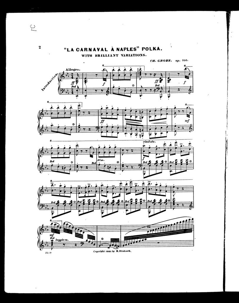 """Carnival  ̉Naples"""" polka, """"La"""