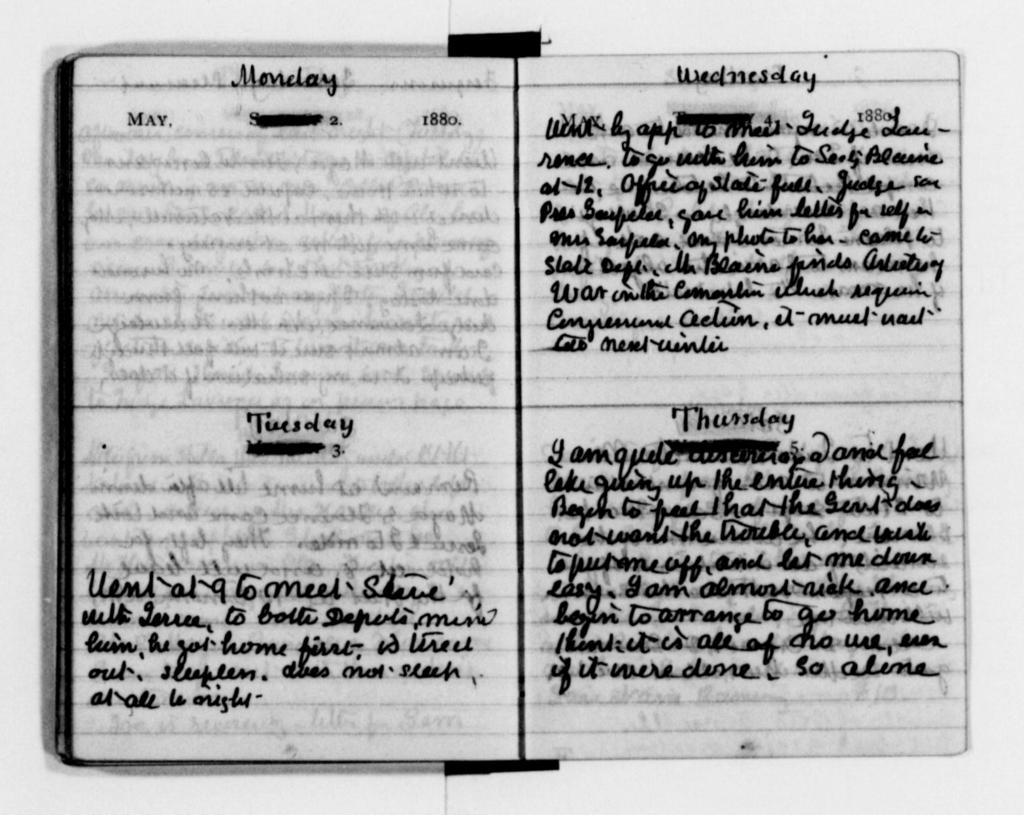 Clara Barton Papers: Diaries and Journals: 1881, Jan.-July