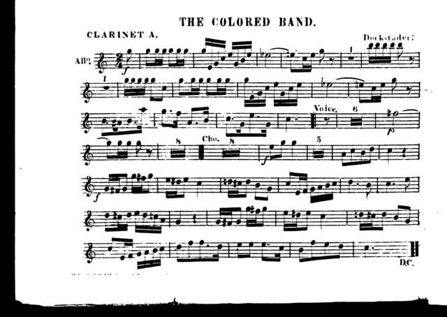 Colored band, The [orch parts]
