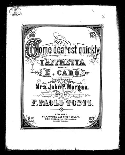 Come, dearest, quickly! T'Affretta