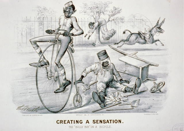 """Creating a sensation: The """"Bully Boy"""" on a bicycle"""