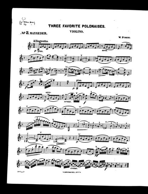 Favorite polonaises, Three