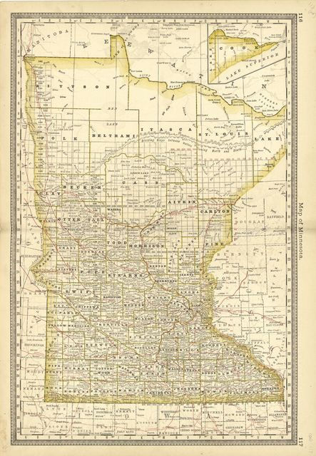 Historical hand-atlas, illustrated, containing large scale copper plate maps of each state and territory of the United States, and the provinces of Canada, together with a complete reference map of the world, topographical and railroad map of the United States, thirteen comprehensive maps of bible geography ... : nine farm maps and history of Wells County, Indiana, illustrated, containing a condensed history of the county, biographical sketches, general statistics, miscellaneous matters, &c.