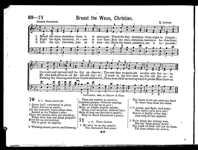 Hymn service, no. 3