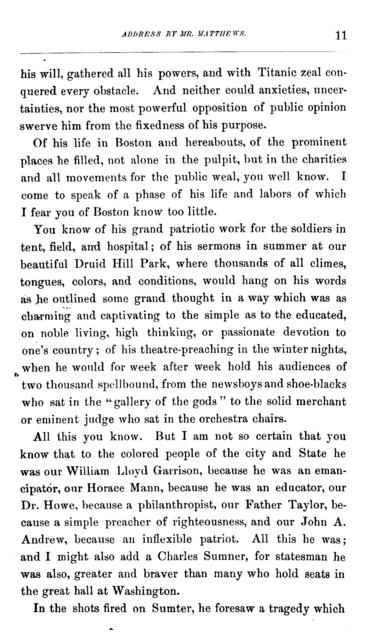 John F. W. Ware and his work for the freedmen. An address in the African Methodist church, Charles street, Boston, April 11, 1881.