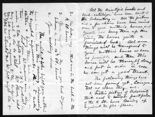 Letter from Alexander Graham Bell to Mabel Hubbard Bell, September 21, 1881