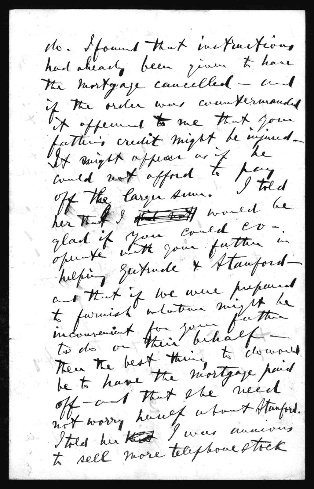Letter from Alexander Graham Bell to Mabel Hubbard Bell, September 24, 1881