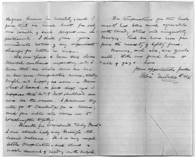 Letter from Alexander Melville Bell to Alexander Graham Bell, August 23, 1881