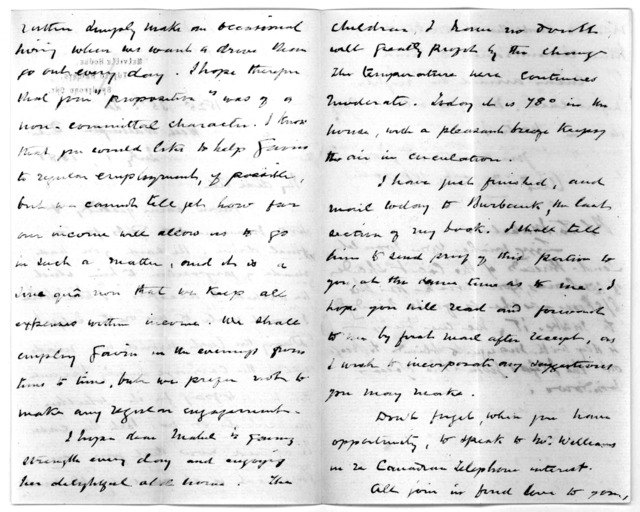 Letter from Alexander Melville Bell to Alexander Graham Bell, July 1, 1881