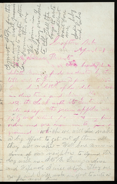 Letter from Giles S. Thomas to Thomas Family, April 30, 1881