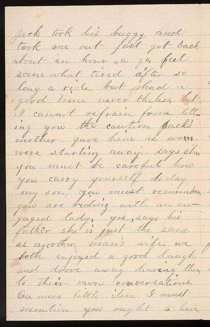 Letter from Laura Iona Bacon to Uriah W. Oblinger, September 11, 1881