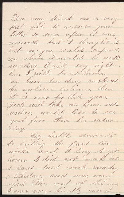 Letter from Laura Iona Bacon to Uriah W. Oblinger, September 27, 1881