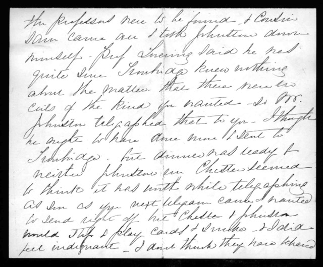 Letter from Mabel Hubbard Bell to Alexander Graham Bell, July 16, 1881