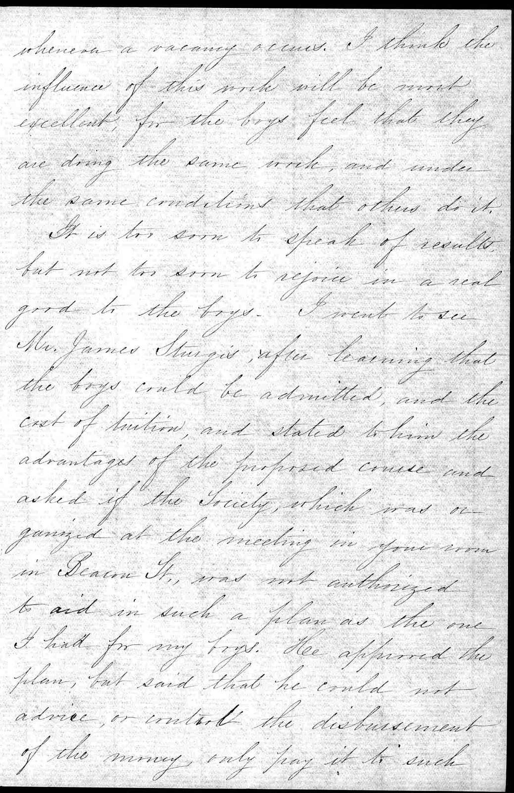 Letter from Sarah Fuller to Alexander Graham Bell, November 14, 1881