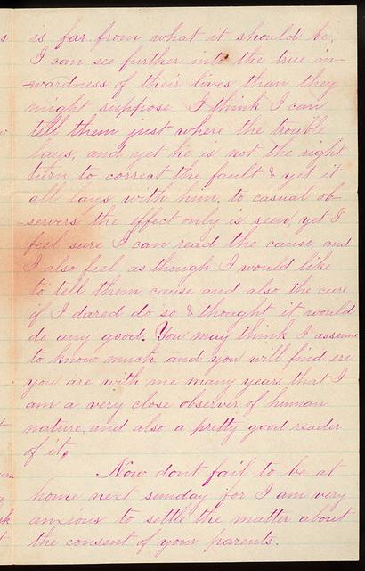 Letter from Uriah W. Oblinger to Laura Iona Bacon, September 25, 1881