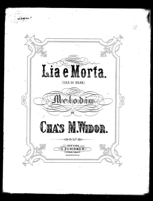 Lia  ̈morta - Leah is dead; Canto populare