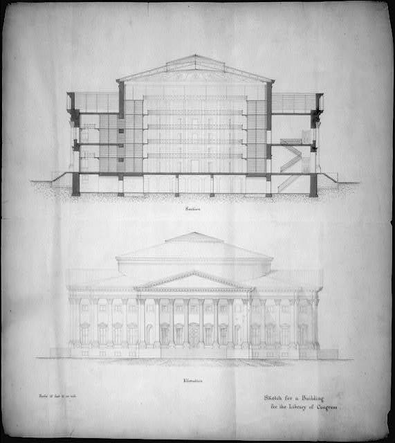 [Library of Congress, Washington, D.C. Elevation and section]