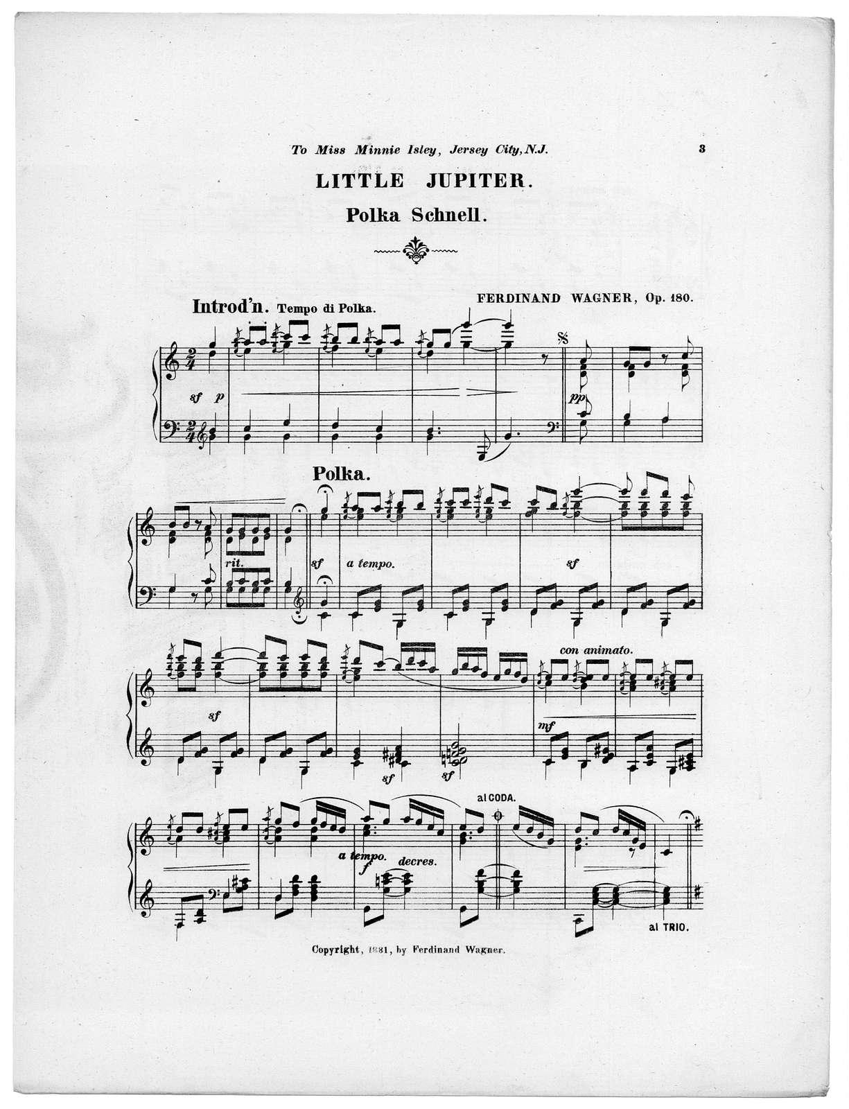 Little Jupiter, op. 180