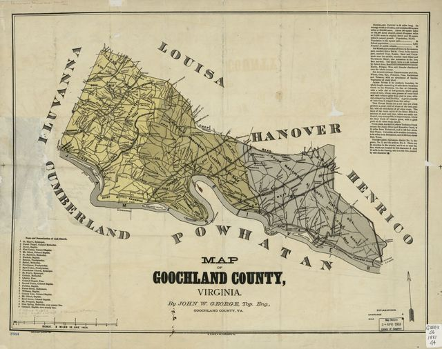 Map of Goochland County, Virginia /