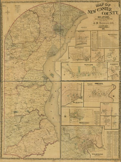 Map of New Castle County, Delaware : from actual surveys & recotds /