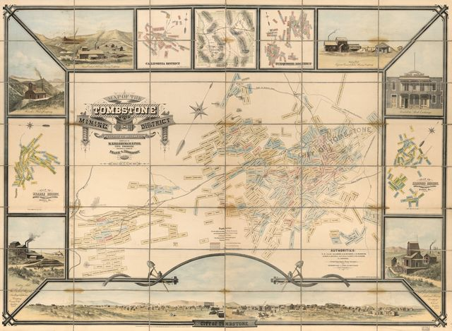 Map of the Tombstone mining district : Cochise Co., Arizona Ter. /